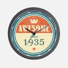 Awesome Since 1935 Wall Clock
