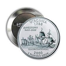 Virginia State Quarter Button
