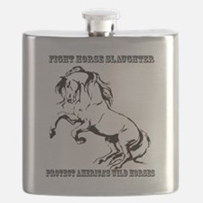 Fight Horse Slaughter Flask
