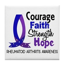 RA Courage Faith 1 Tile Coaster