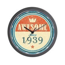 Awesome Since 1939 Wall Clock
