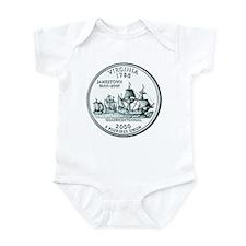 Virginia State Quarter Infant Creeper