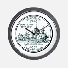 Virginia State Quarter Wall Clock