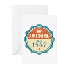 Awesome Since 1947 Greeting Card