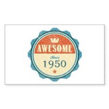 Awesome Since 1950 Rectangle Decal