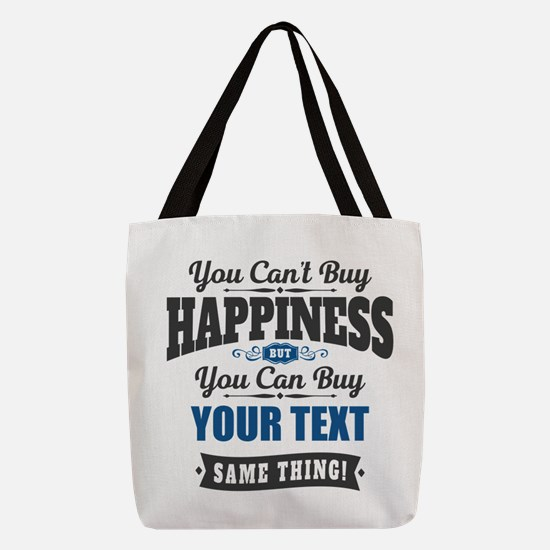 Custom Happiness Polyester Tote Bag