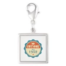 Awesome Since 1952 Silver Square Charm