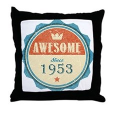 Awesome Since 1953 Throw Pillow