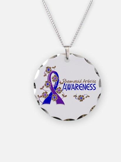 RA Awareness 6 Necklace Circle Charm