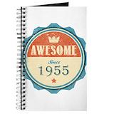 1955 birthday Journals & Spiral Notebooks
