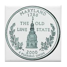 Maryland State Quarter Tile Coaster