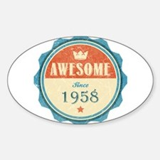 Awesome Since 1958 Oval Decal