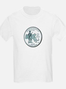 Massachusetts State Quarter Kids T-Shirt