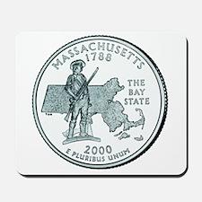 Massachusetts State Quarter Mousepad