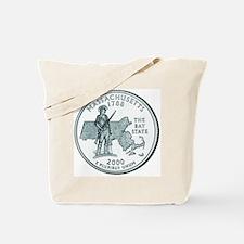 Massachusetts State Quarter Tote Bag