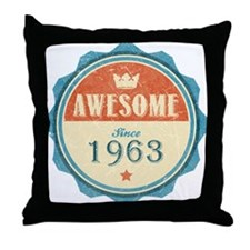 Awesome Since 1963 Throw Pillow