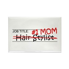 Job Mom Hair Stylist Rectangle Magnet