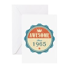 Awesome Since 1965 Greeting Cards (10 pack)