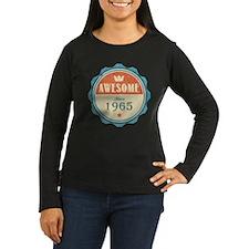 Awesome Since 1965 Women's Dark Long Sleeve T-Shir