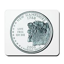 New Hampshire State Quarter Mousepad