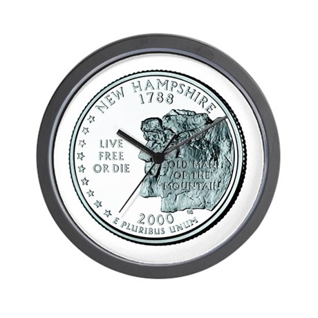 New Hampshire State Quarter Wall Clock