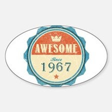 Awesome Since 1967 Oval Decal