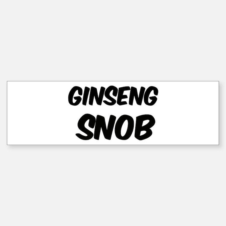 Ginseng Bumper Bumper Bumper Sticker