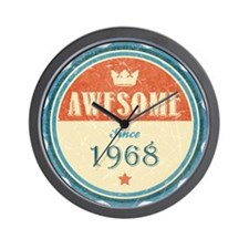 Awesome Since 1968 Wall Clock