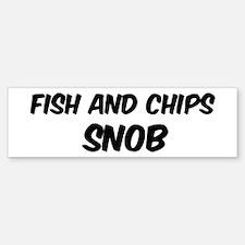 Fish And Chips Bumper Bumper Bumper Sticker