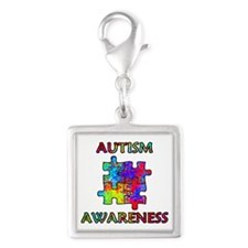 Autism Awareness Colorful Puzzle Pieces Charms