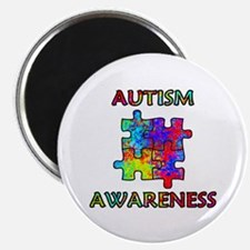 Autism Awareness Colorful Puzzle Pieces Magnets