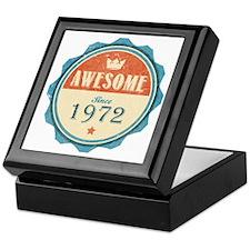 Awesome Since 1972 Keepsake Box
