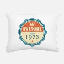Awesome Since 1973 Rectangular Canvas Pillow