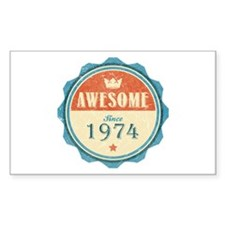 Awesome Since 1974 Rectangle Decal
