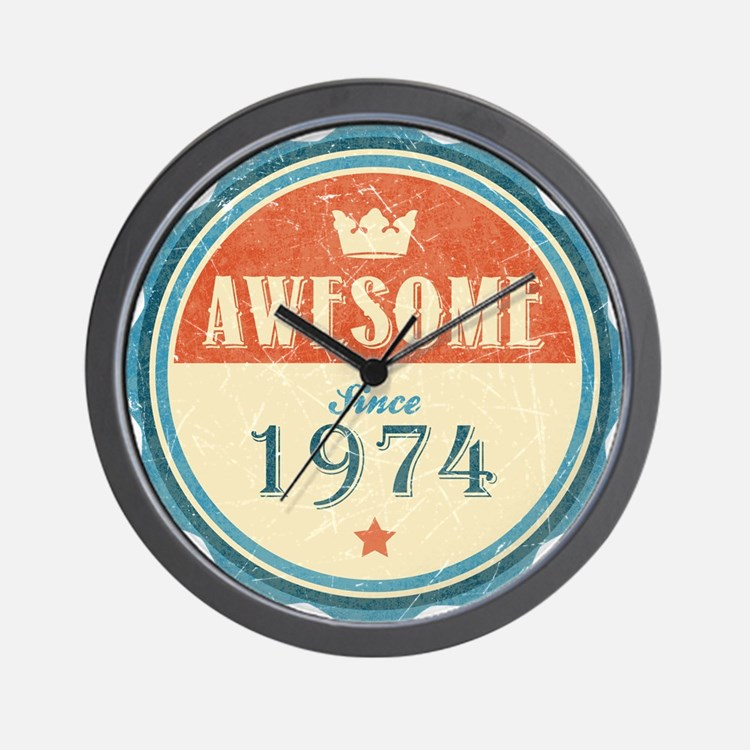 Awesome Since 1974 Wall Clock