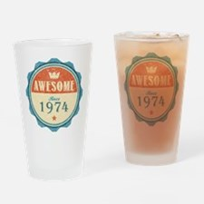 Awesome Since 1974 Drinking Glass