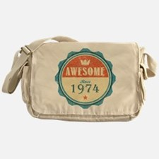 Awesome Since 1974 Canvas Messenger Bag