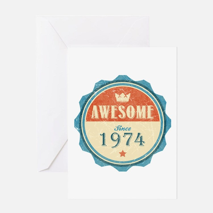 Awesome Since 1974 Greeting Card