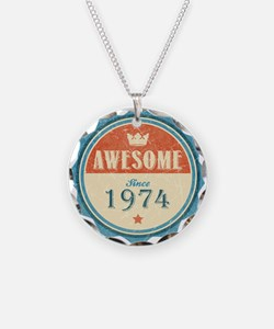 Awesome Since 1974 Necklace