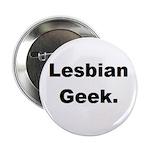 Lesbian Geek. Button