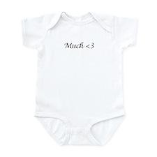MUCH<3_1_BLK1 Infant Bodysuit
