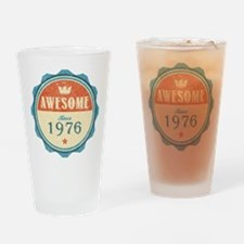 Awesome Since 1976 Drinking Glass