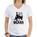 Bears: The #1 Threat to America Women's V-Neck T-S