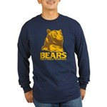 Bears: The #1 Threat to America Long Sleeve Dark T