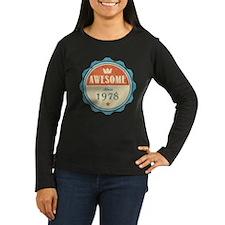 Awesome Since 1978 Women's Dark Long Sleeve T-Shir