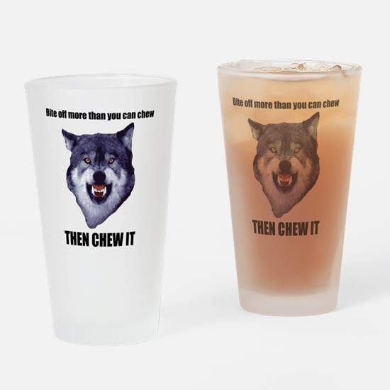 Courage Wolf Drinking Glass
