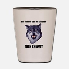 Courage Wolf Shot Glass