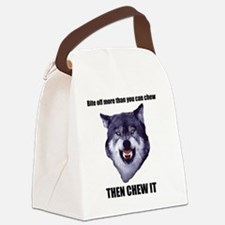 Courage Wolf Canvas Lunch Bag