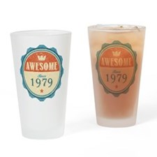 Awesome Since 1979 Drinking Glass
