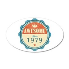 Awesome Since 1979 38.5 x 24.5 Oval Wall Peel